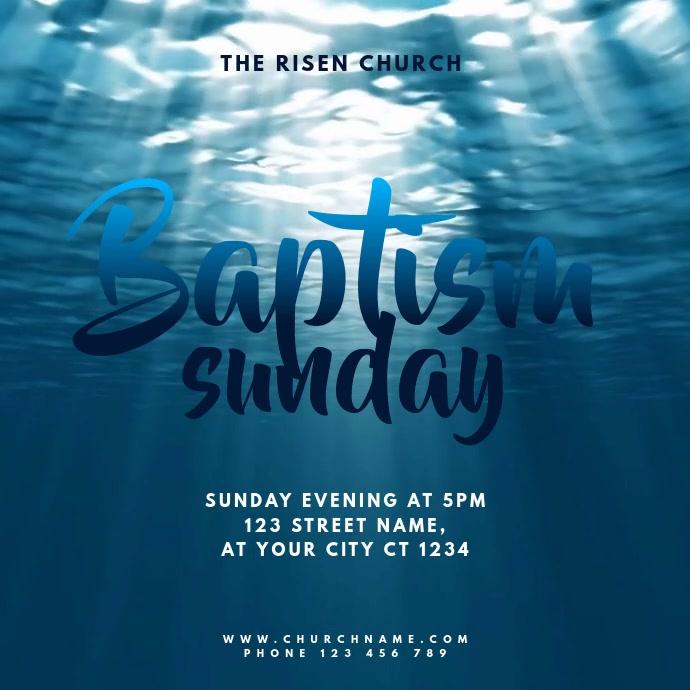 Church Baptism Sunday