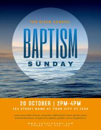 Church Baptism Sunday Flyer Template