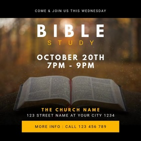 Church Bible Study Instagram Post template