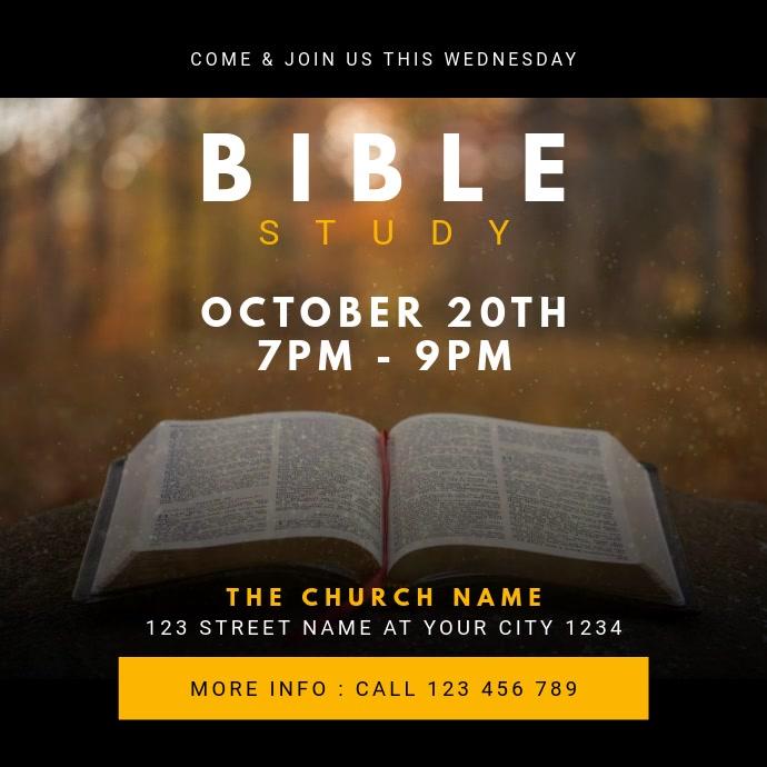 Church Bible Study Сообщение Instagram template