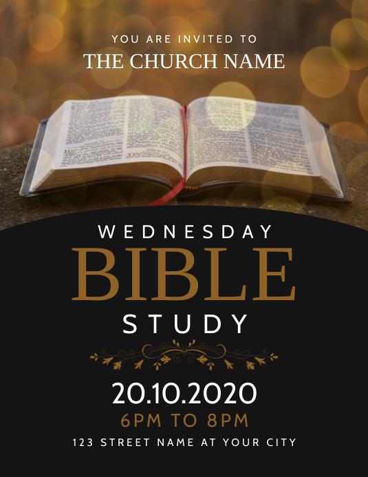 Church Bible Study Event 传单(美国信函) template