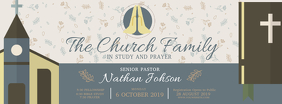 Church Bible Study Facebook Header Facebook-omslagfoto template