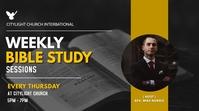 church bible study flyer Display digitale (16:9) template
