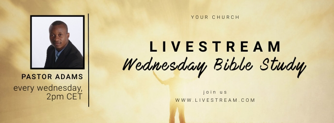 church bible study online banner Facebook Omslag Foto template