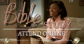 church bible study online from home template