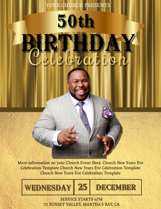 Church Birthday Celebration Event Template