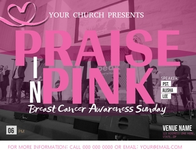 Church Breast Cancer Awareness Flyer Template