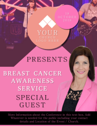 Church Breast Cancer Event Flyer Template