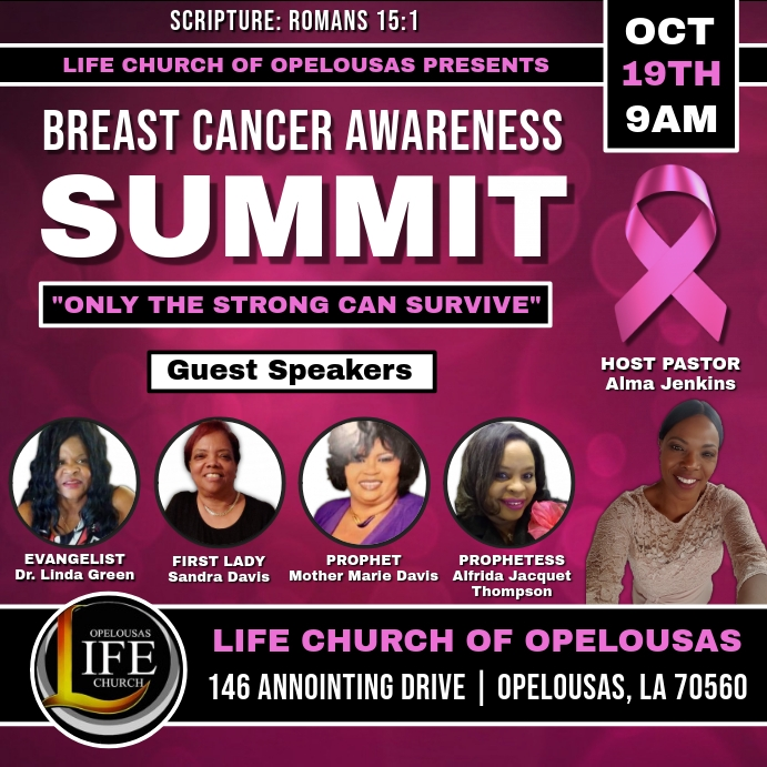 CHURCH BREAST CANCER WOMEN'S CONFERENCE