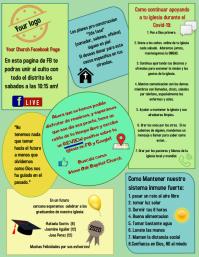 church bulletin/newsletter/boletin iglesia Flyer (format US Letter) template