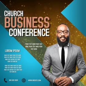 CHURCH BUSINESS CONFERENCE TEMPLATE Square (1:1)