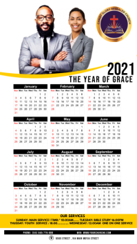 Church calender Digitale display (9:16) template
