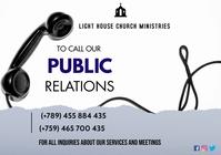 church call flyer A3 template