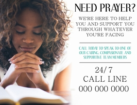 Church Call Line ad Flyer Template