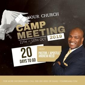 Church Camp Announcement Flyer Template