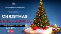 Church carol service Flyer Digitalt display (16:9) template