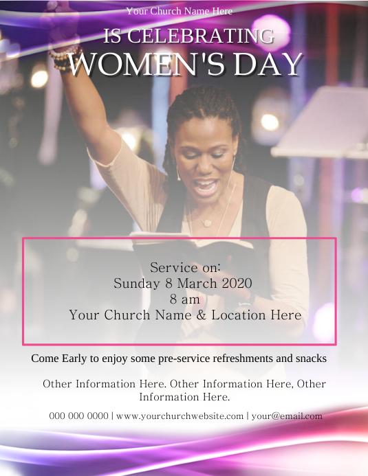 Church Celebration Event Template