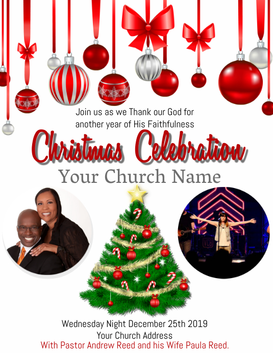Church Christmas Celebration Event Template