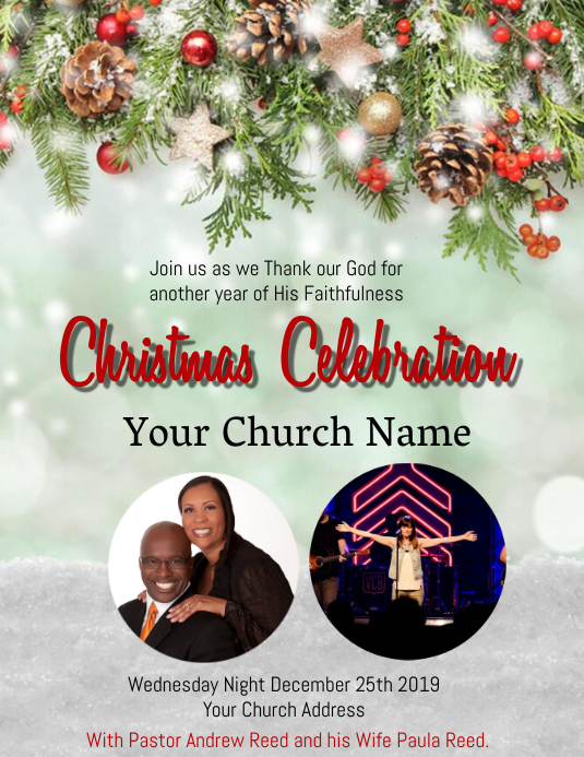 Church Christmas Celebration Event Template