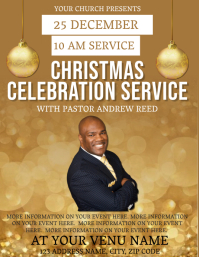 Church Christmas Celebration Flyer Template
