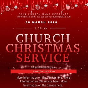 Church Christmas Day Event Flyer Template Vierkant (1:1)