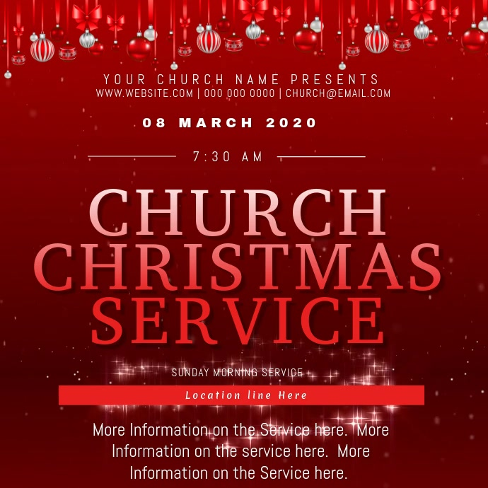Church Christmas Day Event Flyer Template