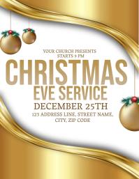 Church Christmas Eve Event Flyer Template