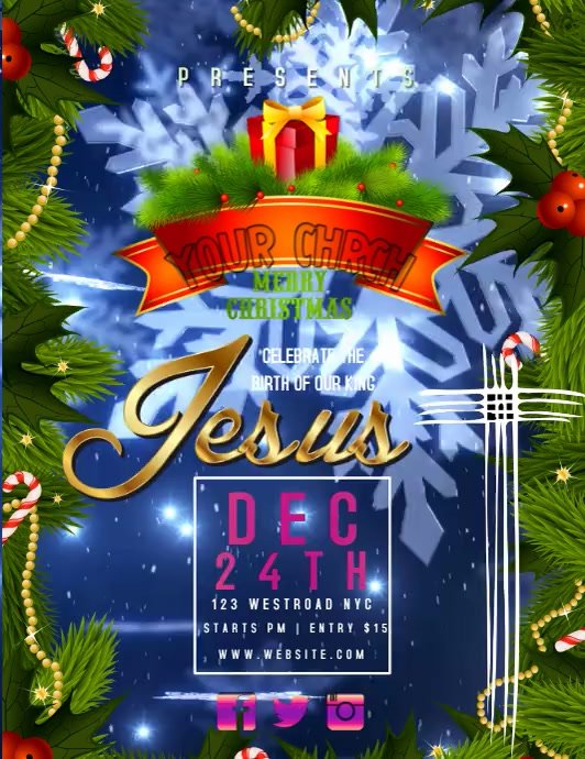 CHURCH CHRISTMAS EVENT FLYER VIDEO