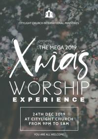 church christmas flyer A3 template