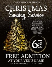 Church Christmas Service Event Flyer Template