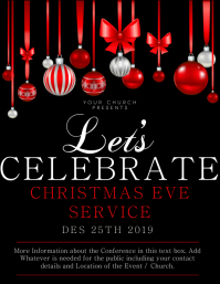 Church Christmas Service Flyer Template