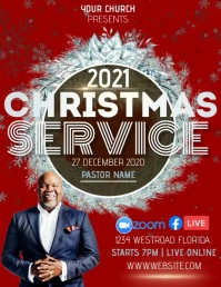 CHURCH CHRISTMAS SERVICE TEMPLATE Flyer (US Letter)