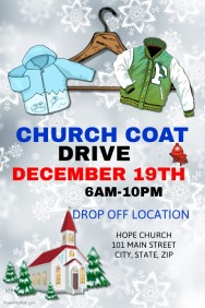 Church Coat Drive Template  Clothing Drive Flyer Template