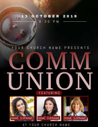 Church Communion Event Flyer Template