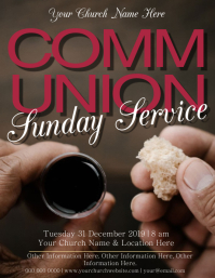 Church Communion Service Event Template