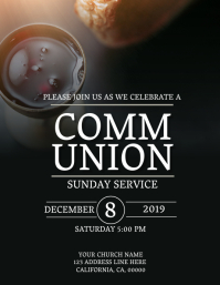 Church Communion Sunday Flyer Template