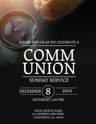 Church Communion Sunday Flyer Template