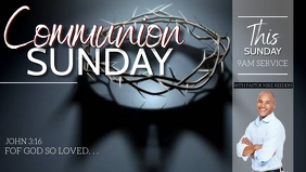 CHURCH COMMUNION SUNDAY FLYER template Facebook Cover Video (16:9)