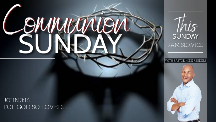 CHURCH COMMUNION SUNDAY FLYER template Facebook-omslagvideo (16: 9)