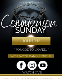CHURCH COMMUNION SUNDAY SERVICE EVENT TEMPLAT