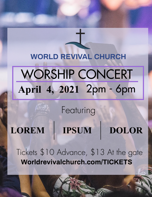 Church concert Pamflet (Letter AS) template