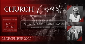 CHURCH CONCERT PRAISE AND WORSHIP EVENT Facebook Shared Image template