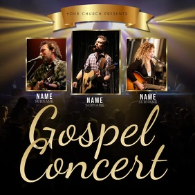 Church Concert Video Flyer Template Persegi (1:1)