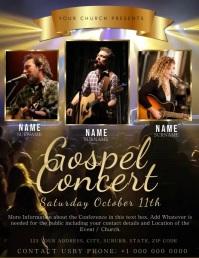 Church Concert Video Flyer Template