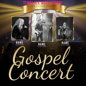 Church Concert Video Flyer Template