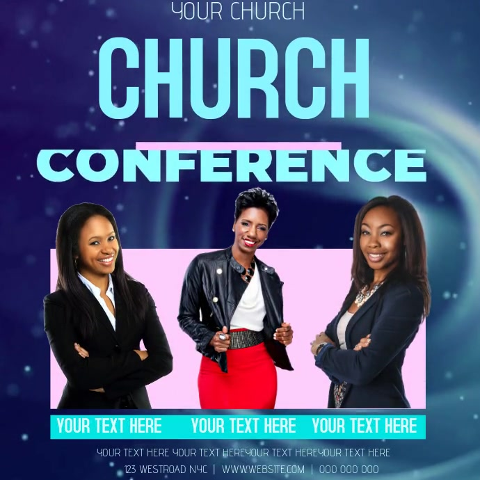 CHURCH CONFERENCE AD TEMPLATE