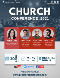 Church Conference Flyer (US Letter) template