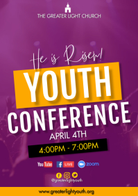 Church conference A3 template