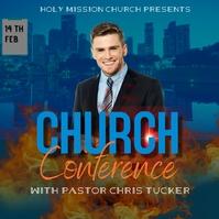 Church conference โพสต์บน Instagram template