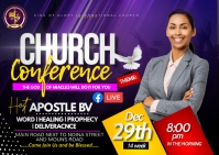 church conference Postcard template